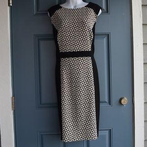 * Black & White Fit & Flare Dress/Tahari Sz. 18,